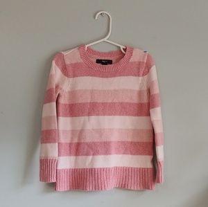 Gap Kids pink striped sweater